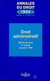 Droit Administratif - Couverture - Format classique