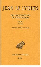 Des magistratures de l'Etat romain t.1 ; première partie, introduction générale - Intérieur - Format classique
