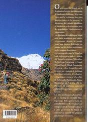 Les Plus Beaux Trekkings Du Nepal - 4ème de couverture - Format classique