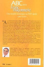 ABC de la franc-maçonnerie - 4ème de couverture - Format classique
