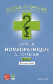 Conseil homéopathique à l'officine t.2 - Couverture - Format classique