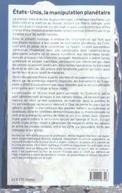 Etats-unis manip planetaire - 4ème de couverture - Format classique