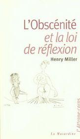 Obscenite et loi de reflexion - Intérieur - Format classique