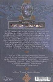 Petites histoires de sirènes bretonnes - 4ème de couverture - Format classique