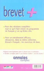 Français; les 29 fiches clés - 4ème de couverture - Format classique