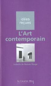 L'art contemporain - Intérieur - Format classique