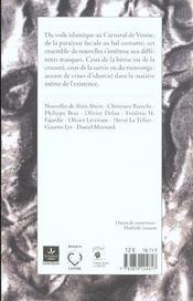 Clin d'oeil a la nouvelle - masques - 4ème de couverture - Format classique