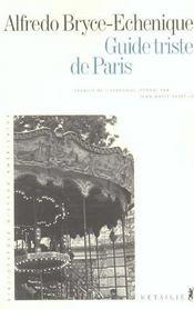 Guide Triste De Paris - Intérieur - Format classique