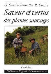 Saveur et vertus des plantes sauvages - Couverture - Format classique