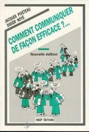 Comment Communiquer De Facon Efficace - Couverture - Format classique