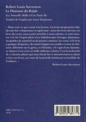 Diamant Du Rajah (Le) - 4ème de couverture - Format classique