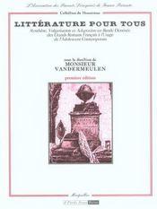 Litterature pour tous. synthese, vulgarisation et adaptation en bande dessinee des grands romans fr - Intérieur - Format classique