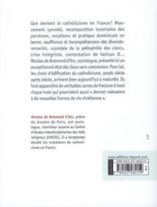 Catholicisme ; zone de fracture - 4ème de couverture - Format classique