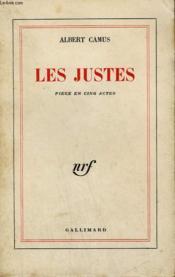 Les Justes. - Couverture - Format classique