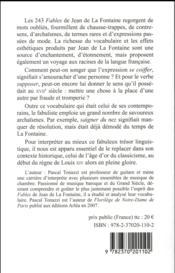 Le vocabulaire des Fables de La Fontaine - 4ème de couverture - Format classique