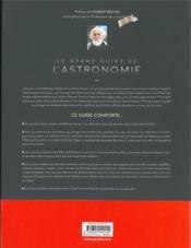Le grand guide de l'astronomie (5e édition) - 4ème de couverture - Format classique