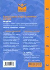 Reussir Le Concours D'Agent De Constatation Ou D'Assiette Des Impots T.7 - 4ème de couverture - Format classique