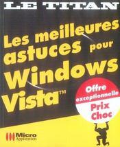 Les meilleures astuces pour windows vista - Intérieur - Format classique