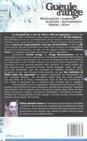Gueule d'ange - 4ème de couverture - Format classique