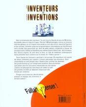 Fallait Y Penser ; Les Inventeurs Et Leurs Inventions - 4ème de couverture - Format classique