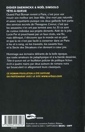 Tete A Queue - 4ème de couverture - Format classique