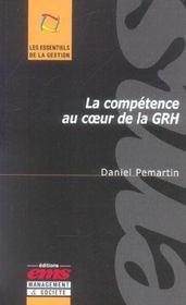 La Competence Au Coeur De La Grh - Intérieur - Format classique