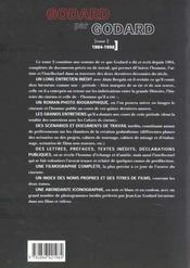 Jean-Luc Godard par Jean-Luc Godard t.2 ; 1984-1998 - 4ème de couverture - Format classique