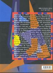 Eclat -De Pierre Boulez - 4ème de couverture - Format classique