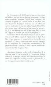La paternite de dieu dans la bible cycle de conferences bibliques - 4ème de couverture - Format classique