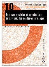Sciences sociales et coopération en Afrique : les rendez-vous manqués - Couverture - Format classique