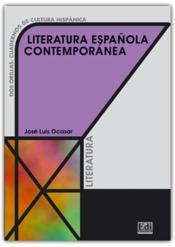 Literatura espanola contemporanea - Couverture - Format classique