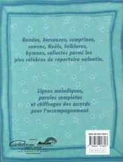 Anthologie de la chanson enfantine - 4ème de couverture - Format classique