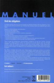 Droit des obligations (11e édition) - 4ème de couverture - Format classique