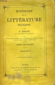 Histoire De La Litterature Francaise. Tome Deuxieme. - Couverture - Format classique