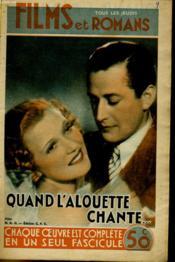 Films Et Romans - Quand L'Alouette Chante... - 1ere Annee -N°9 - Couverture - Format classique