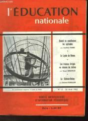 L'Education Nationale N°15 - Couverture - Format classique