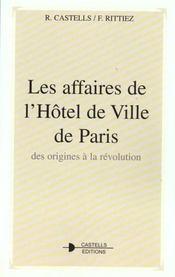 Les Affaires De L'Hotel De Ville De Paris - Intérieur - Format classique