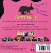 Petits lapins - 4ème de couverture - Format classique