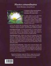 Plantes Extraordinaires ; 300 Merveilles Vegetales - 4ème de couverture - Format classique