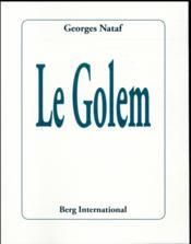 Le golem - Couverture - Format classique