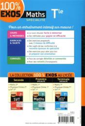 100% EXOS ; maths, spécialité ; terminale - 4ème de couverture - Format classique