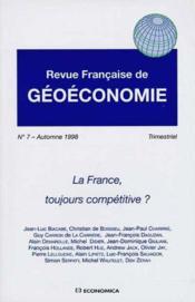 1998 N 7 France. Competitive ? - Couverture - Format classique