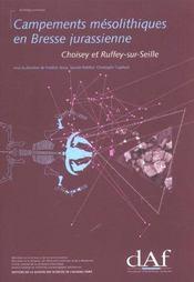 Campements mesolithiques en bresse jurassienne ; choisey et ruffey-sur-seine - Intérieur - Format classique