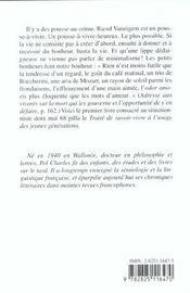 Raoul Vaneigem ; Une Biographie - 4ème de couverture - Format classique