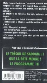 SAS t.164 ; le trésor de Saddam t.2 ; la fin de la traque - 4ème de couverture - Format classique