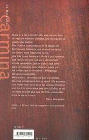 Noli me tangere - 4ème de couverture - Format classique