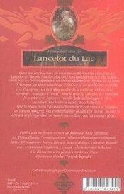 PETITES HISTOIRES DE... ; petites histoires de lancelot du lac - 4ème de couverture - Format classique