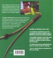 Guide chercheur d'eau - 4ème de couverture - Format classique