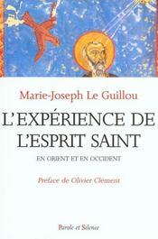 Experience De L'Esprit Saint En Orient Et En Occident - Intérieur - Format classique