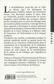 Les hommes d'affaires italiens du Moyen Age - 4ème de couverture - Format classique